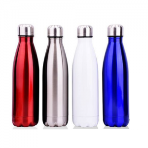 coke double stainless steel thermos flask