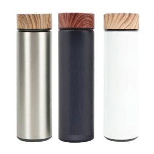 DW-AX04 Wood Cap Stainless Steel Vacuum Flask 500ML