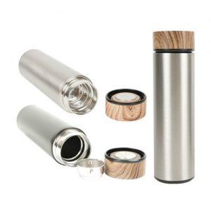 DW-AX04 Wood Cap Stainless Steel Vacuum Flask